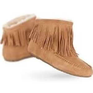 New Cayote (Coyote) Fringed Slippers
